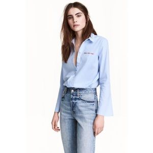 3/$30🌻H&M Shirt Flared Sleeves